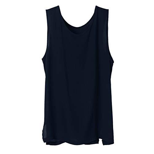 Fenverk Leinenhemd Herren Henley Regular Fit Hemd Sommerhemd Freizeithemden Aus Leinen Und Baumwolle(Marine K,L)