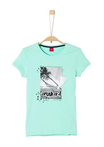 s.Oliver Mädchen 73.906.32.5731 T-Shirt, Blau (Midnight Blue 6117), 140 (Herstellergröße: S/REG) - Midnight Blue Shirt