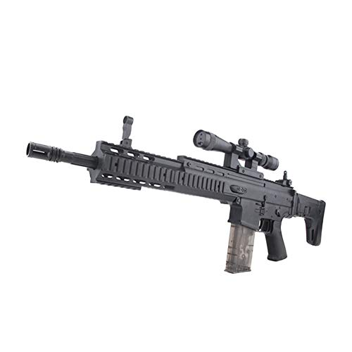 Simulation Scar Manuelles Gewehr Live-Action-Kampfspielzeug Schießen Wasserpistole, 7-8mm Gel Soft Water Crystal Bullets ()