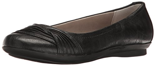 White Mountain Hilt Femmes Synthétique Chaussure Plate Black