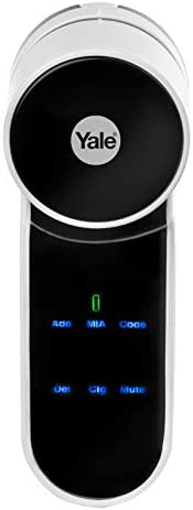 Yale 2724678526119 ENTR Smart Door Lock, Bluetooth, Remote Control, White, W 30.6 x H 22.0 x L 6.6 cm