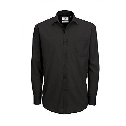 B&C - Camicia Manica Lunga in Popeline - Uomo White