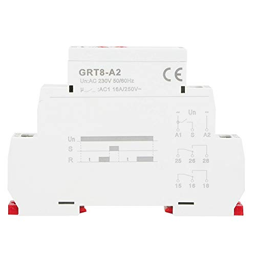 Zeitrelais, Einzelfunktion Zeitrelais für DIN-Schienen-Zeitverzögerung Elektronisches Zeitverzögerungsrelais GRT8-A2 Industriesteuerung Automatisches Zeitrelais(AC230V) - 24v 5 Din-module