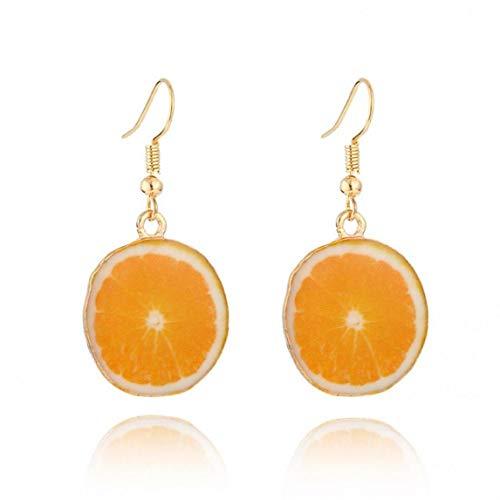 Beito 1pair Acryl-Nette Frucht-Ohrringe Orange Frucht-Ohrringe Dainty Geschenk -