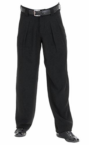 HK Mandel Herren Bundfaltenhose im 50er 60er Jahre Herren Retro Vintage Stil in Schwarz, Model Boogie Größe 50
