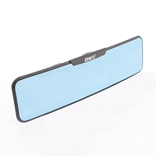 Sheiy Rückspiegel Anti-Glare Blau Tönung Convex Innenrückspiegel Easy Clip auf Safety Blind Spot, Blue