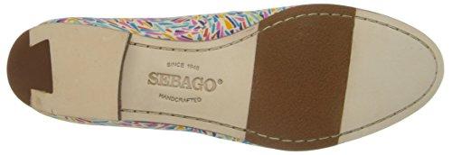 Sebago Womens Hutton Smoking Flat Slip-On Loafer Karter Print Libert Art Fabric