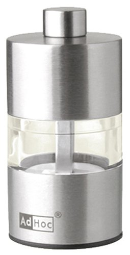 ADHOC MP30 Mini Pfeffer- oder Salzmühle, Edelstahl, 6,2 cm