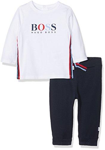 Boss SET T-SHIRT + HOSE Baby Boy Set, pro Packung, Blau (Navy White Multicolor V41), Größe Hersteller: 06M Baby Boy-white-hosen