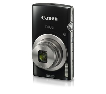 Canon IXUS 185 20MP Digital Camera with 8x Optical Zoom (Black) + 8GB Memory Card + Camera Case