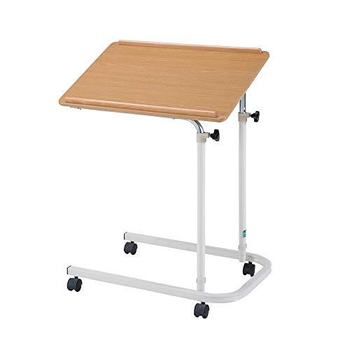 Preisvergleich Produktbild Laptopständer DD Laptop-Tisch,  Bodenständiger Nachttisch,  Pflegetisch Für Senioren,  Beweglicher Esstisch,  Mit Feststellrad -Werkbank (Farbe : Elm Color)