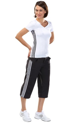 adidas Damen T-Shirt CL Core White/Black