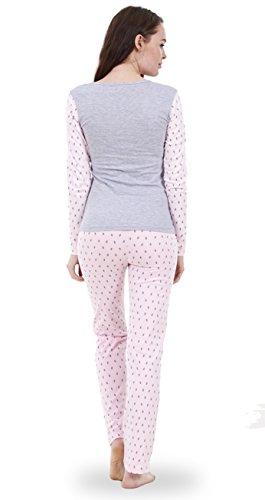 Ensemble pyjama femme Snoopy à manches longues, pyjama femme Mickey Mouse et Minnie Rose- Music