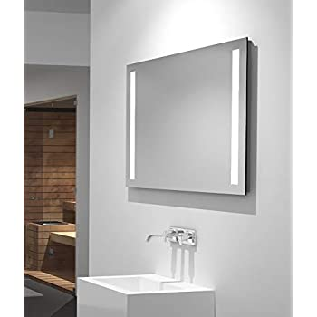badezimmerspiegel mit beleuchtung led spiegel 60x50 cm  badezimmerspiegel moderne technik zeitloses design #6