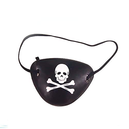 Domire Piraten-Kapitän Eye Patches Schädel-Knochen Für Kinder-Party-Bevorzugungen Und Kostüm-Stütze-Party-Accessoires Schwarz