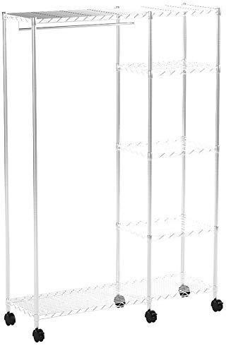 Haku Möbel 43685 Rollgarderobe 123 x 45 x 181 cm, Chrom