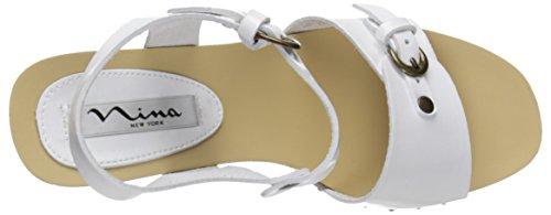 Nina Womens Saffire-S Dress Sandal White Patent