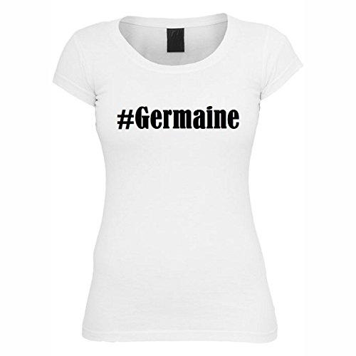 T-Shirt #Germaine Hashtag Raute für Damen Herren und Kinder ... in den Farben Schwarz und Weiss Weiß