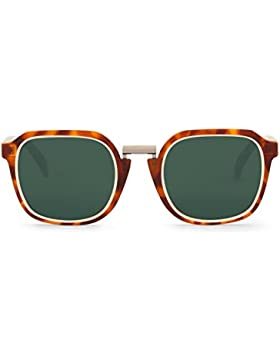 Mr Boho Bushwick, Gafas de Sol Unisex, Circular Cream / Leo Tortoise, 47