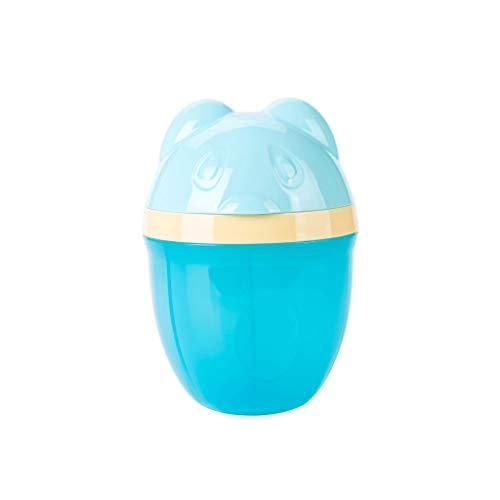Jeerui Fórmula para bebé Contenedor de dispensador con 3 compartimientos Lindo Oso Dispensador de Leche en Polvo para bebés No-Spill Storage Snack Container