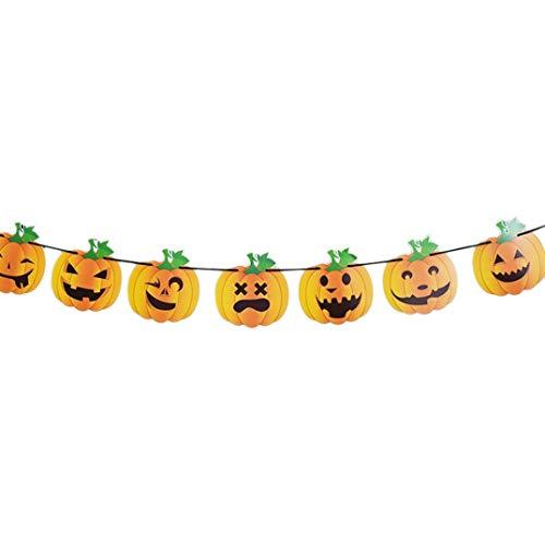 jaysis Happy Halloween Party Flagge Haushalt Kinder Raum Dekoration Terror Supplies Einheitsgröße a