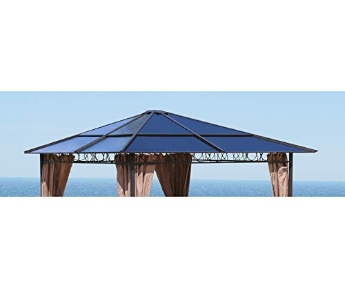 GRASEKAMP Qualität seit 1972 Ersatzdach Hardtop Pavillon 3x3m Doppelstegplatten Polycarbonat Braun