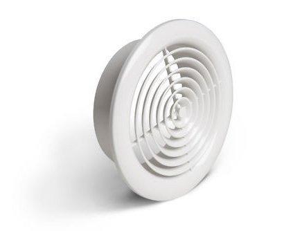 2100W Internal Ventilation Grille Round White 4