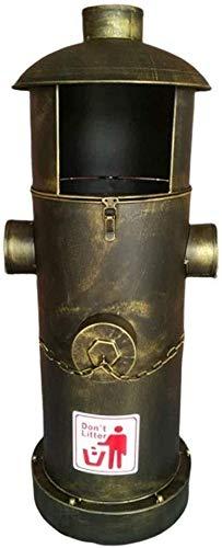 FHKBK Cubo de Basura con Tapa para hornillo de Fuego, Cubo Interior...