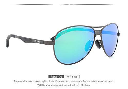 LKVNHP New Hohe Qualität MarkePolarisierteSonnenbrilleMännerSummer Fashion Classic FrauenFreizeitSonnenbrilleLegierungRahmenPolaroidObjektivUv400BrilleR161C6Box