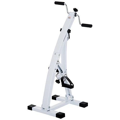 Homcom cyclette elettrica fitness per anziani con pedaliera 41 × 50 × 96cm