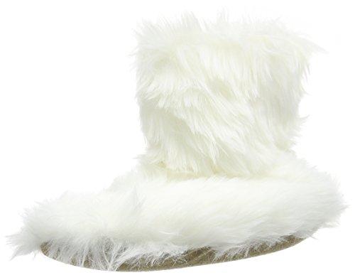 White Pantofole Pantofola Eaze Rotto Pelliccia Bianca Off crema Bootie Donna 7q1S4xw8A