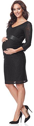 Festliches Schwangerschaftskleid 3/4 Arm knielang schwarz