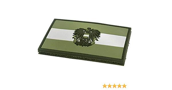 Steinadler Klettflagge Österreich Pvc Klettflächen Patch Als Emblem Für Armee Uniform Und Jacke Flagge Mit Österreich Wappen Oliv Grün Küche Haushalt