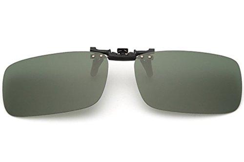 ELSA & ANNA® Unisex Flip-up Polarisierte Sonnenbrillen Klipp auf Sonnenbrille Gläsern Brille VF-GLS-F15 (Grün)