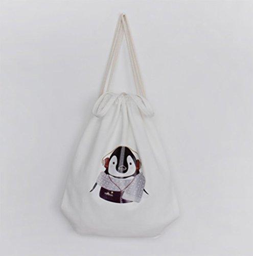 Hosaire 1x Carrying Tasche Rucksäcke Multifunktion Tiermuster Design Rucksack Canvas Backpack Damen Frauen Outdoor Daypacks Handtasche mit Seil Farbe#3