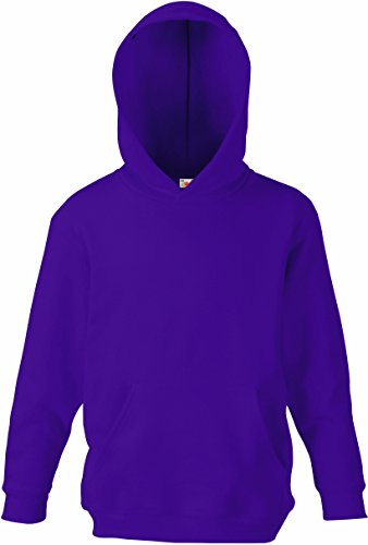 Fruit of the Loom - Classic Kinder Kapuzen-Sweatshirt 'Kids Hooded Sweat' 152,Purple