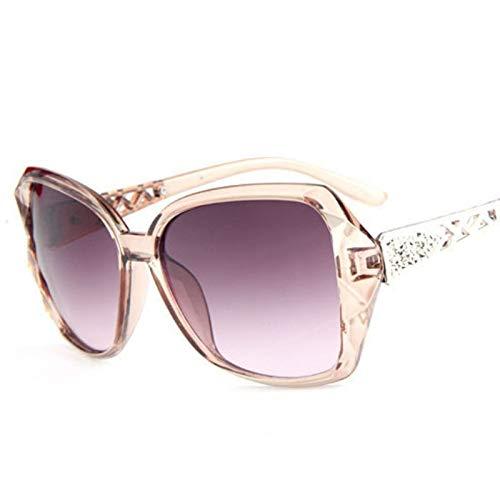 YUHANGH Vintage Large Frame Spiegel Sonnenbrille Frauen Gradient Lens Sonnenbrille De Sol
