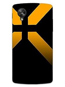 Nexus 5 Cases & Covers - Yellow Stipes - Random Pattern - Designer Printed Hard Shell Case