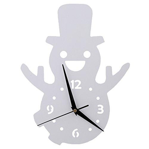 Bonhomme de neige Horloge murale Chambre d'enfant Chambre Horloge silencieuse Belle famille Décoration Boutique