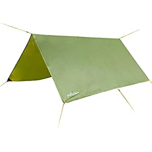 31GTtgMxHdL. SS300  - 3m x 3m - Waterproof, Lightweight,Ripstop Compact & Strong Green Tarpaulin for Camping