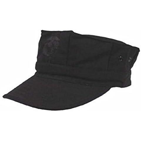 Militär a - Gorra del ejército americano, todo el año, color negro, tamaño S