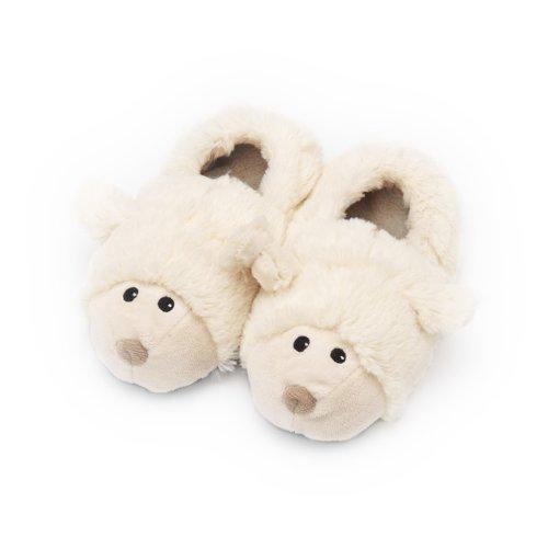 Cozy Heads - Pantofole riscaldabili per bambini, a forma di pecorelle, Taglia unica per bambini