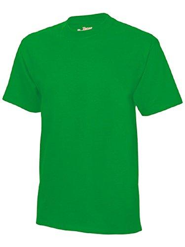 Hanes Herren T-Shirts  USA Beefy-T Schlichte Ausführung, Crew  - Grün - Kelly Green - Medium