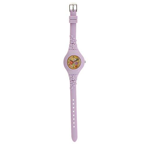 thun v3163p47 orologio uau country texture lilac, silicone, multicolore, 7.5 x 7.5 x 5.5 cm, 1 unità