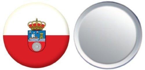 Miroir insigne de bouton Espagne Cantabria drapeau - 58mm