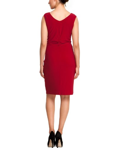 Comma Robe   Sans manche Femme Rouge - Rot (3660 red)