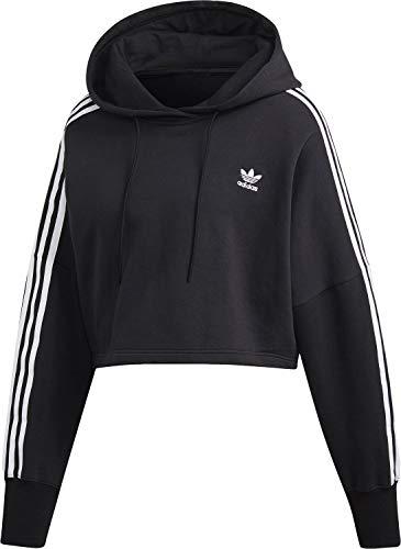 adidas Damen Cropped Hoody, Black, 38 -