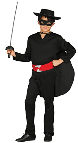 Kostüm Zorro (Bandit Held - Kostüm für Kinder Gr. 110 - 146,)