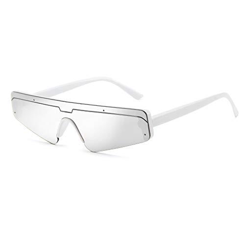 iCerber sonnenbrillen Süß Schöne Verspielt Unisex Square Small Frame Sonnenbrille Retro Sonnenbrille Fashion Sunglass UV 400 ❀❀2019 Neu❀❀(Silber)