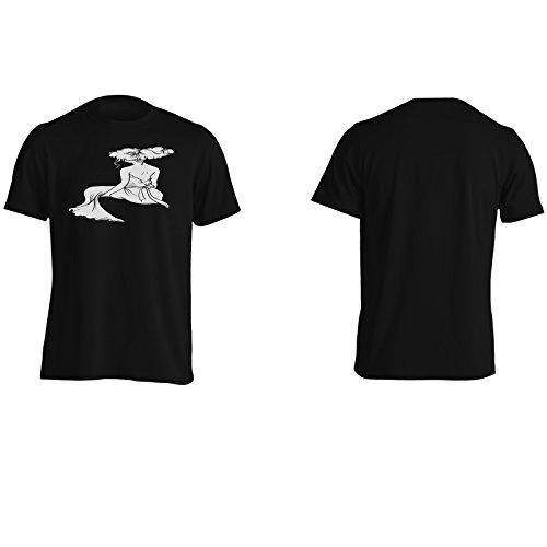 Regalo di lusso dell'arte della signora di modo Uomo T-shirt f718m Black